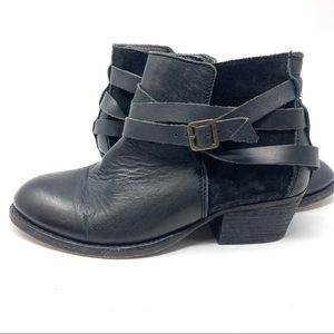 H by Hudson Black Horrigan Leather Ankle Booties